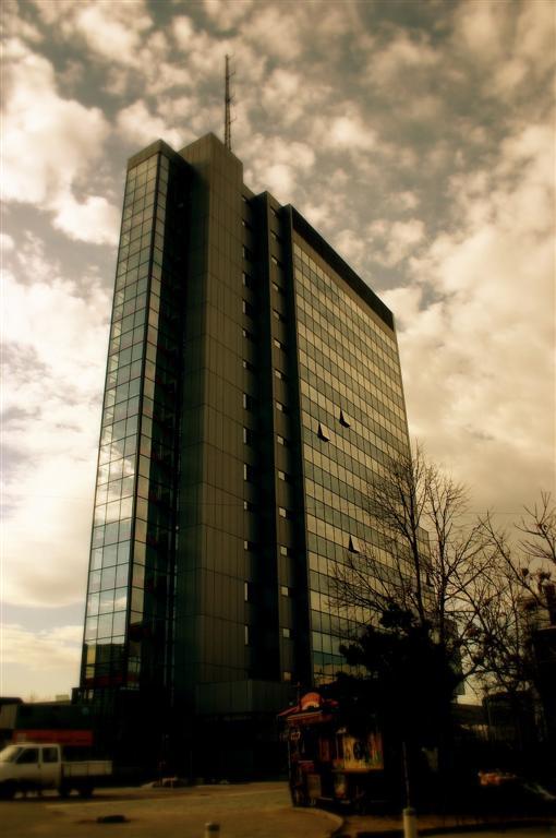 Das Regierungsgebäude in Priština