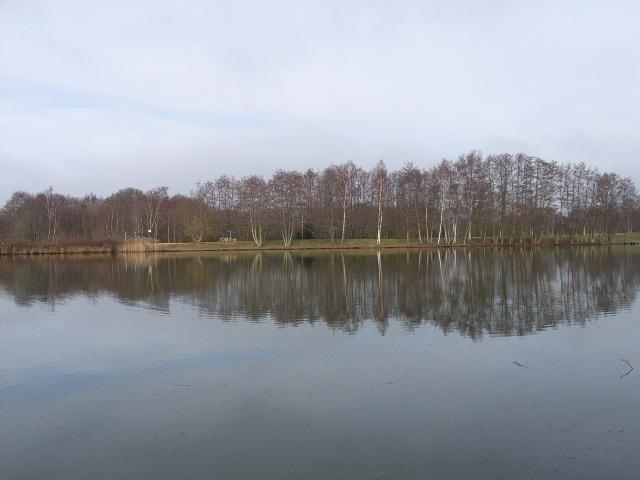 Lake near Moulsham Green, Yateley - geograph.org.uk - 125648