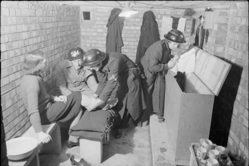 Image result for british air raid shelter