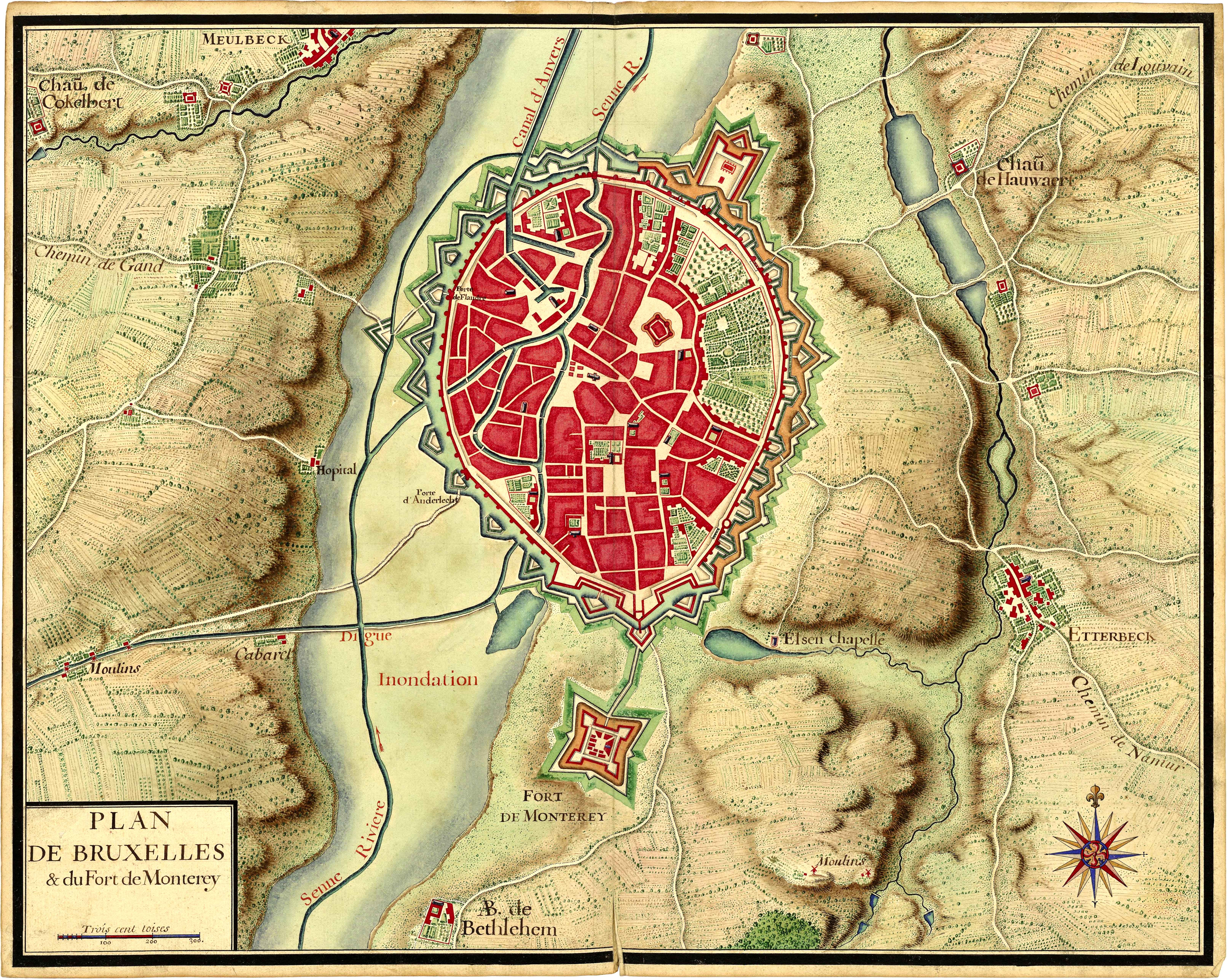 18th century brussels map hi res brussels 18th century brussels map hi res gumiabroncs Images