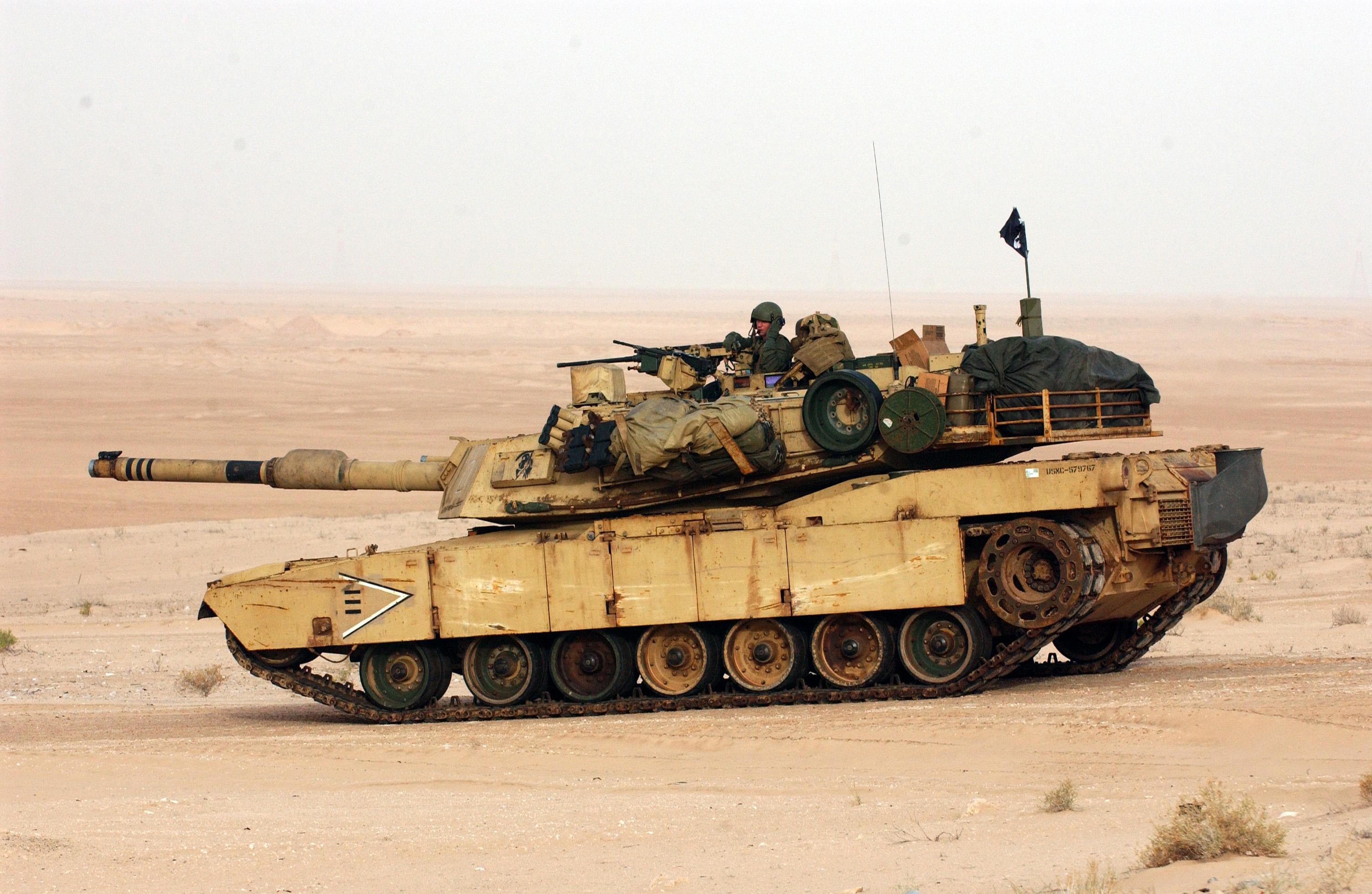 Die U.S. Army und das US Marine Corps verfügen zusammen über 5970M1 Abrams-Kampfpanzer.[90]