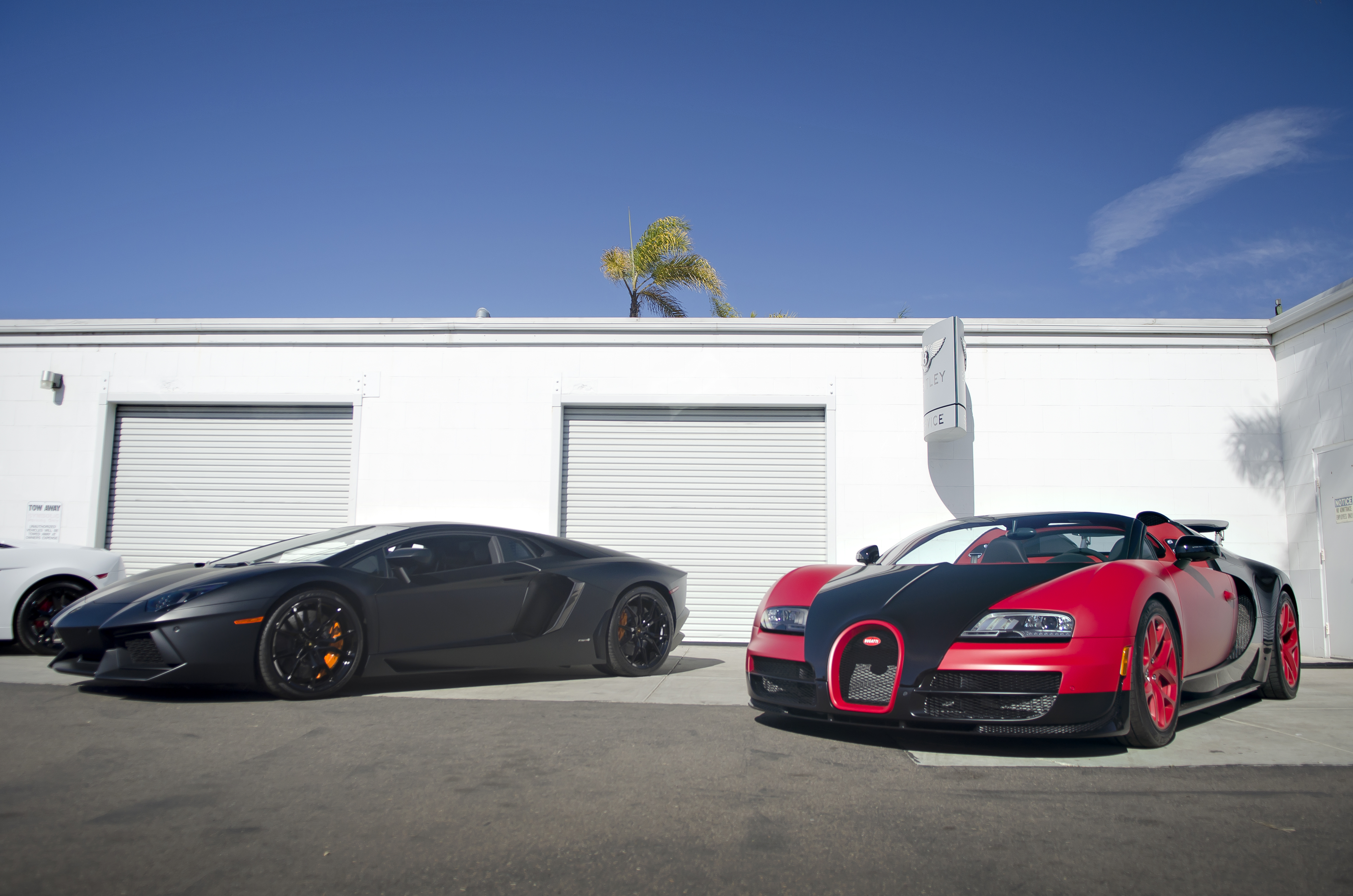filematte black lamborghini aventador and matte red bugatti veyron vitesse 12142208996