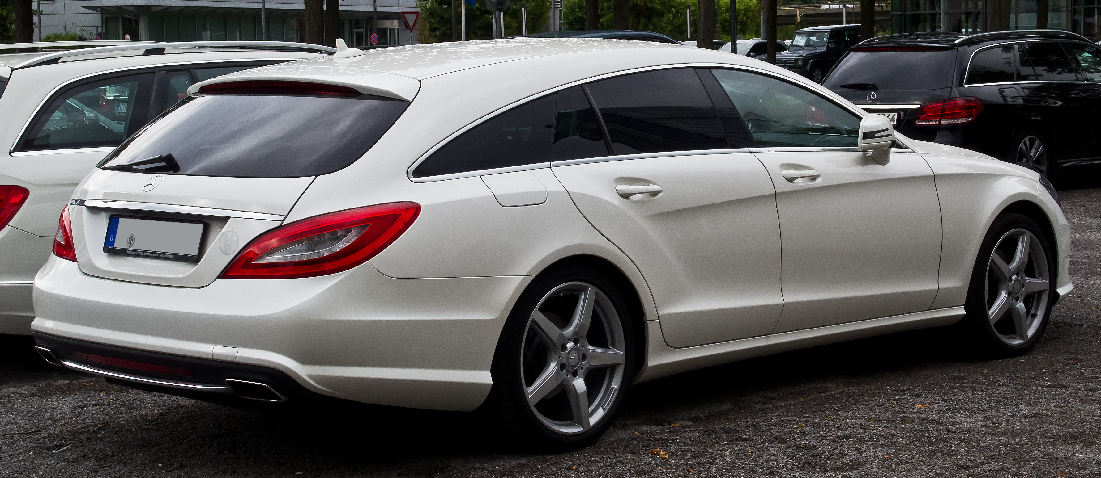 file mercedes benz cls 350 cdi shooting brake sport paket amg x 218 heckansicht 5 juli. Black Bedroom Furniture Sets. Home Design Ideas