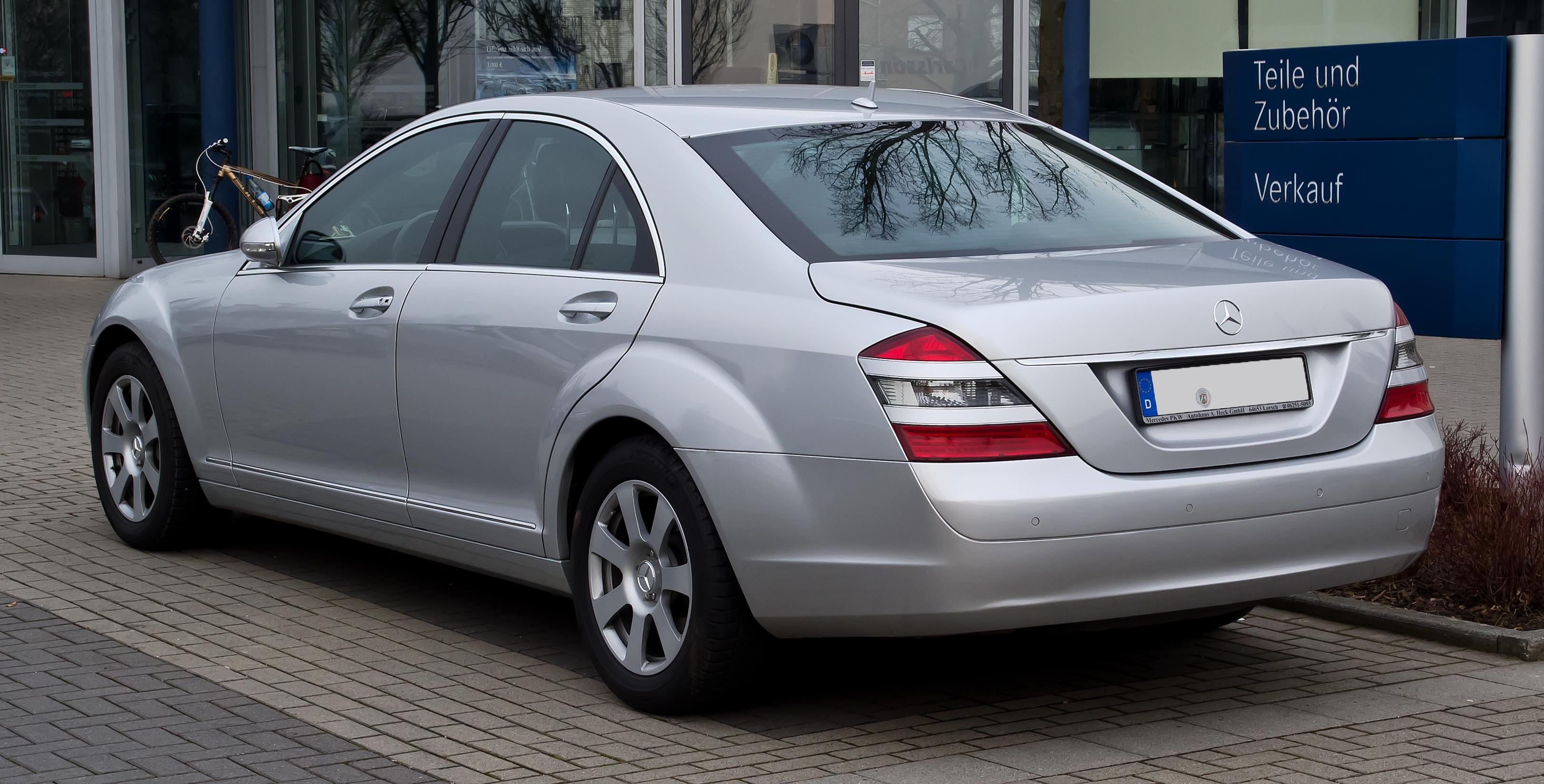 File Mercedes Benz S Klasse W 221 Heckansicht 3 M 228 Rz
