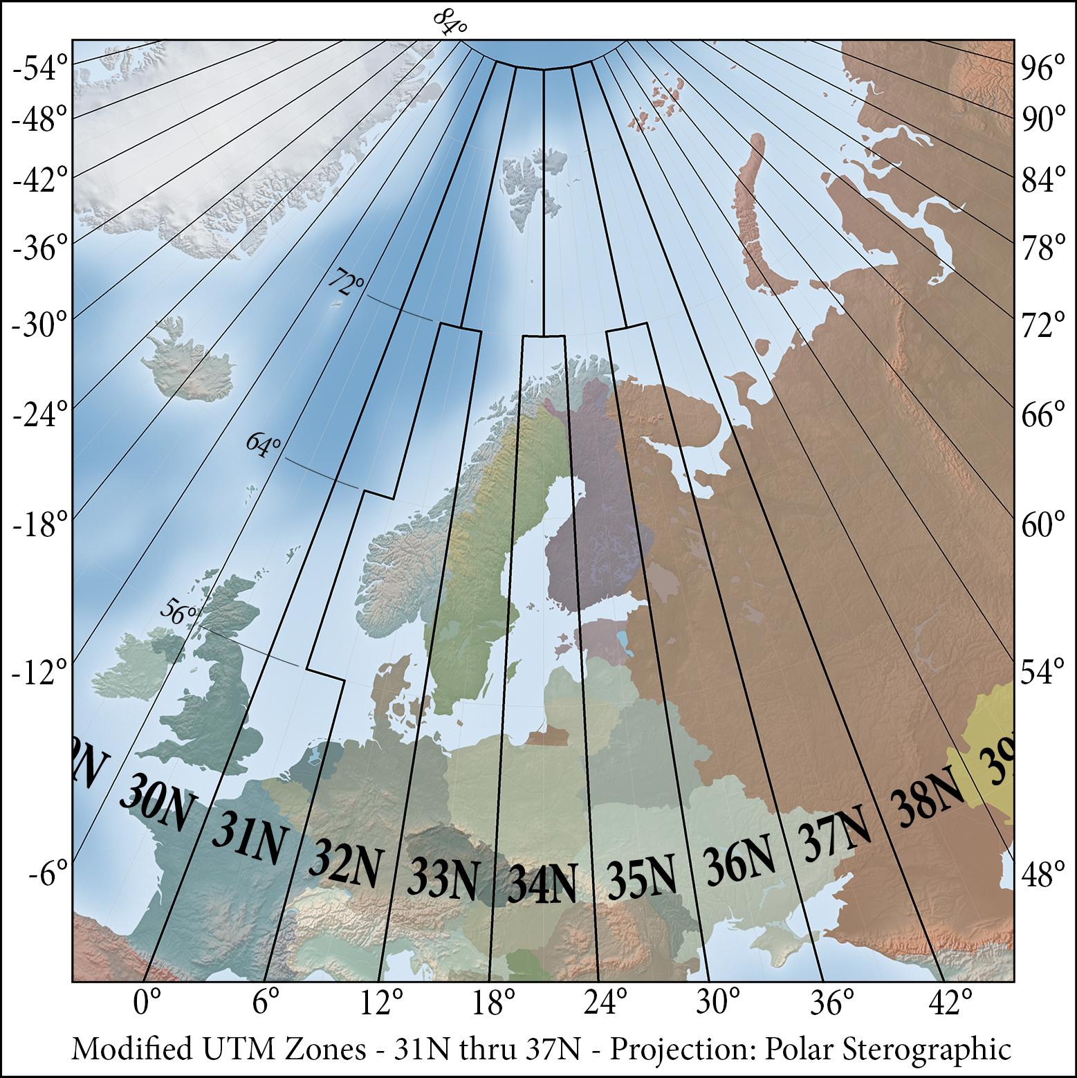 Universal Transverse Mercator coordinate system   Wikiwand