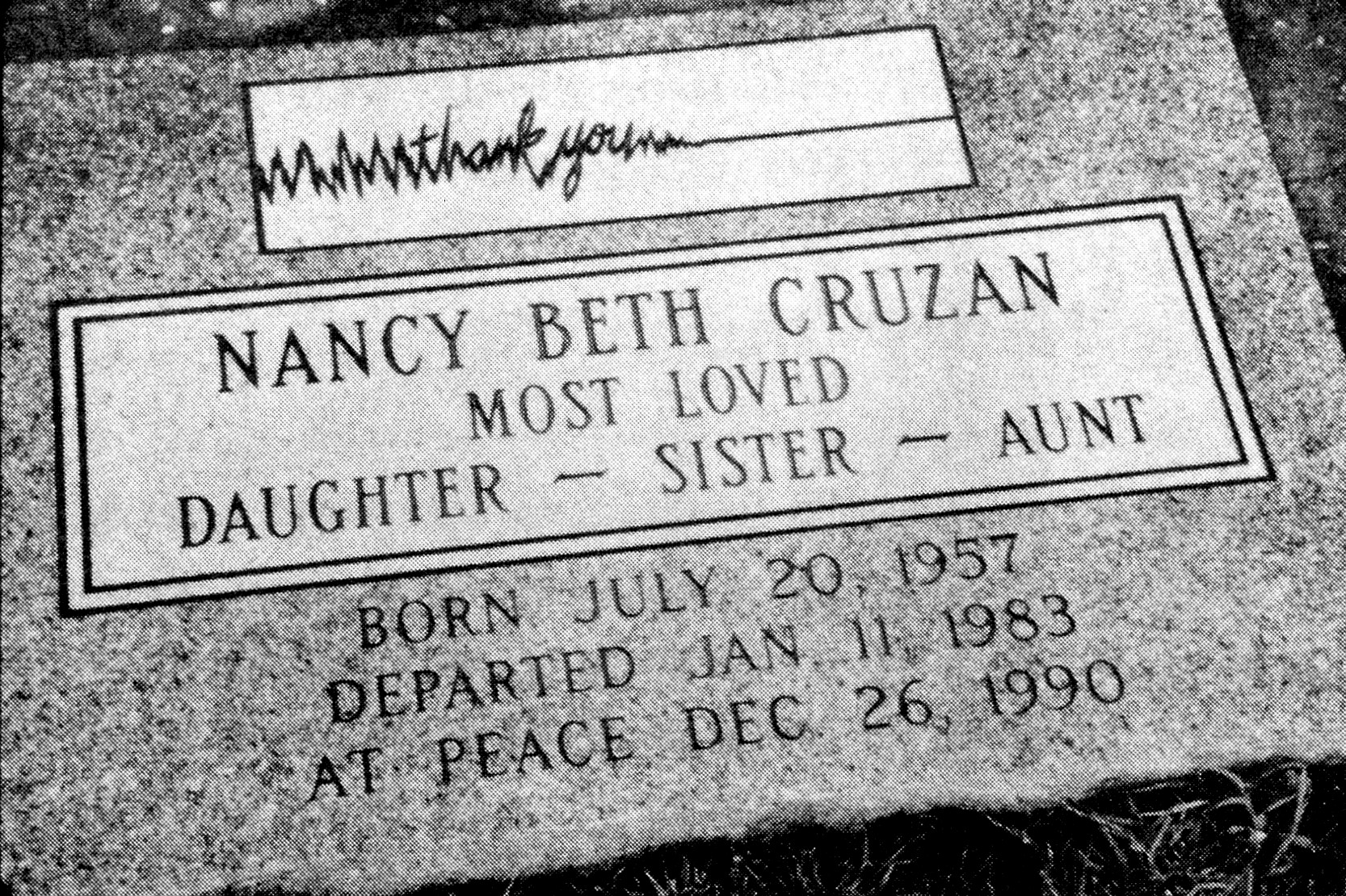 Cruzan by Cruzan v. Director, Missouri Department of Health