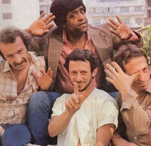 Opa en 1981: Los hermanos Osvaldo y Hugo Fattoruso, junto a Rubén Rada y Ringo Thielmann.