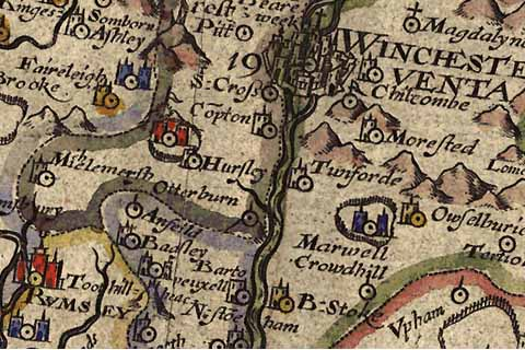 File:Old Map Hursley 1607.jpg