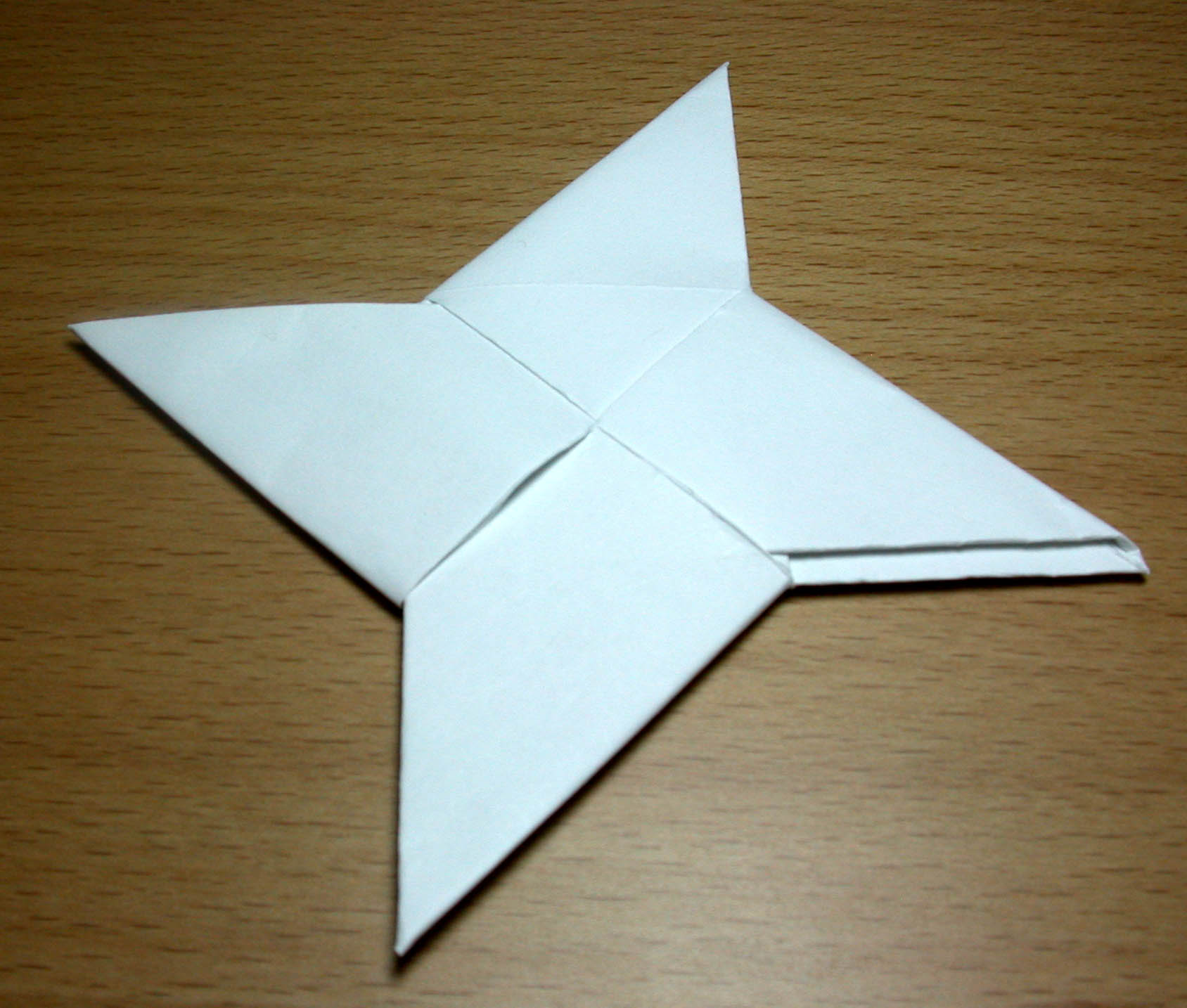 Origami Throwing Star Directions