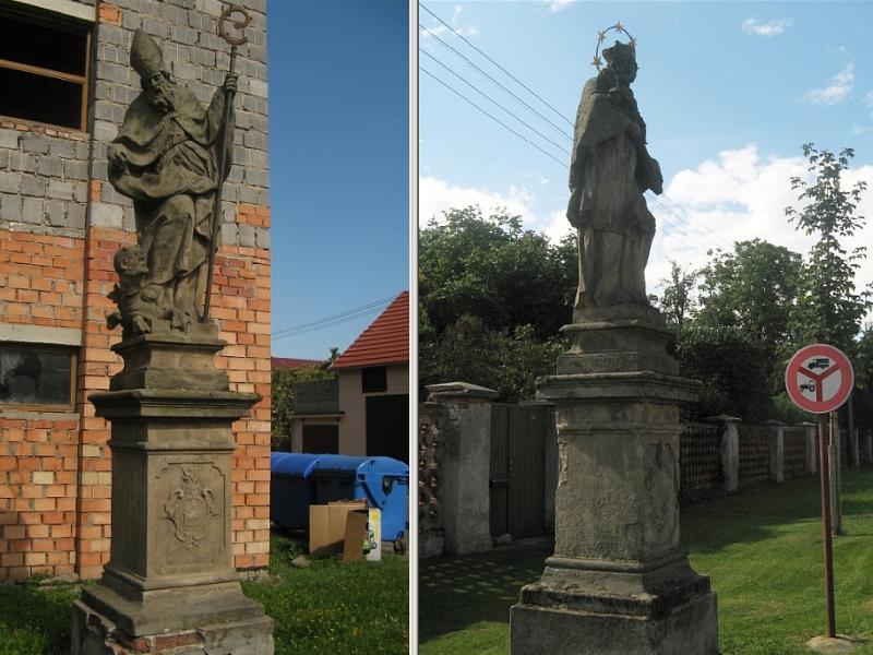 File:Ronov, sochy svatého Prokopa a svatého Jana Nepomuckého.jpg