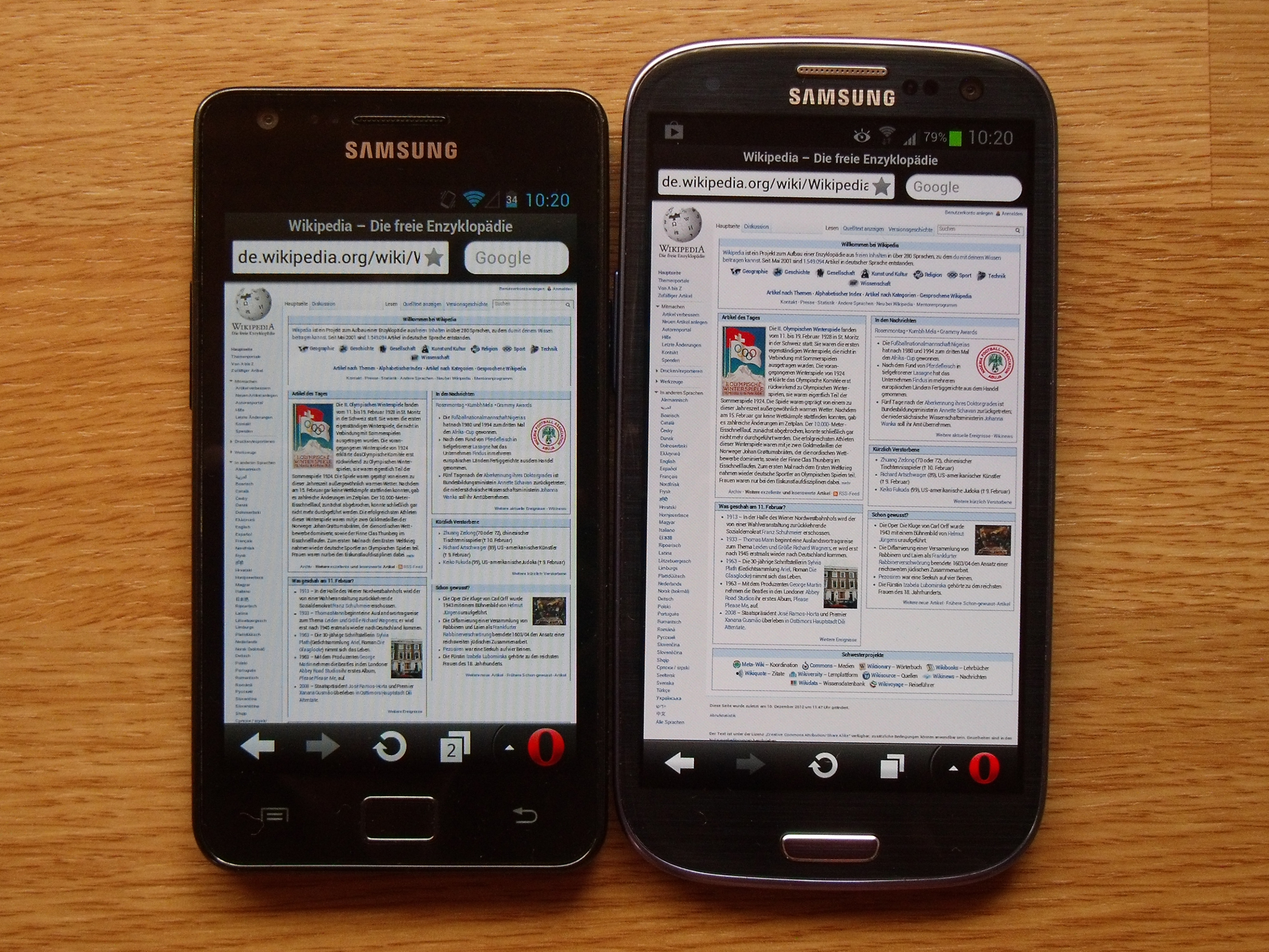 File:Samsung Galaxy S3 - Galaxy S2 screen and size