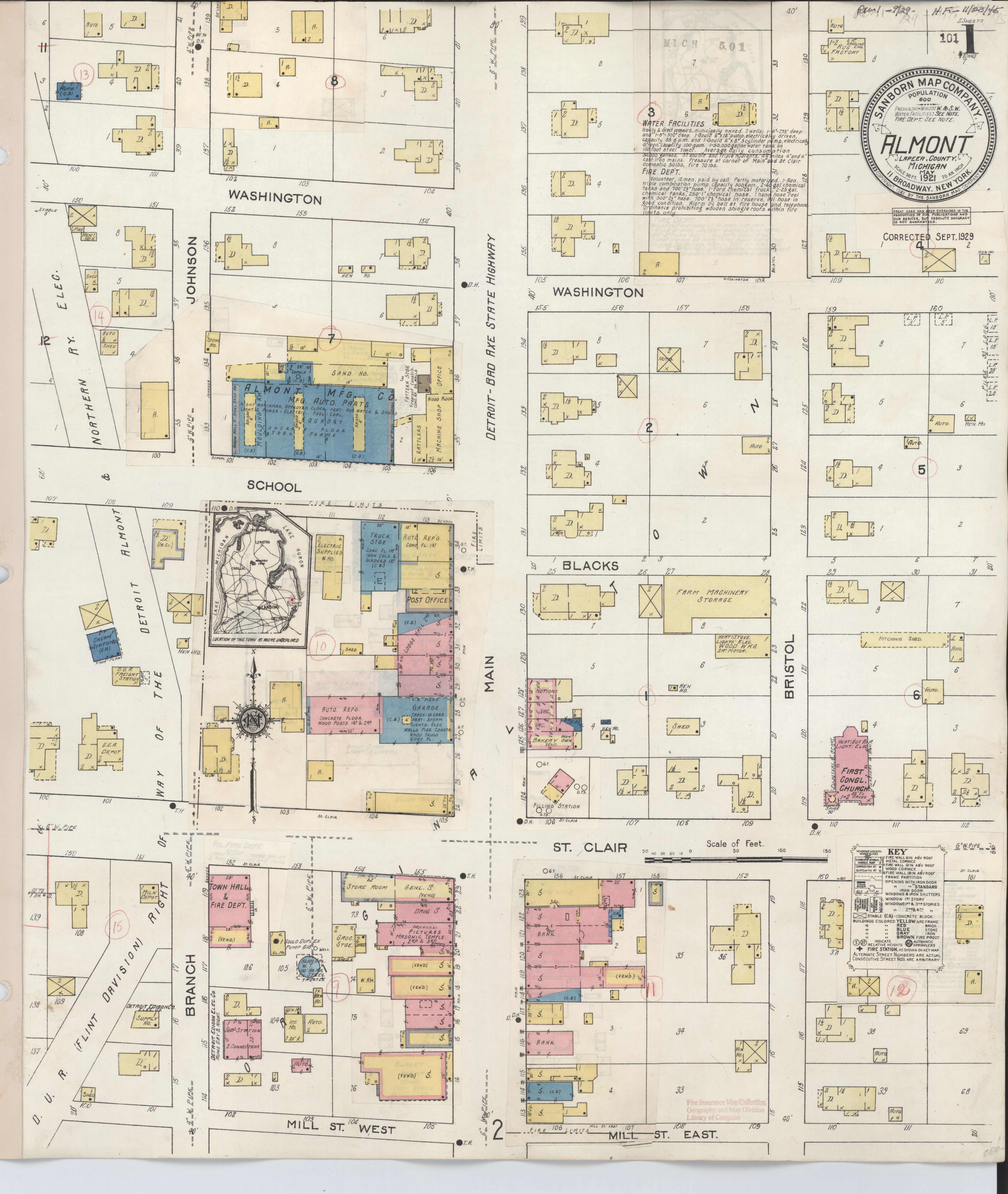 File Sanborn Fire Insurance Map From Almont Lapeer County Michigan