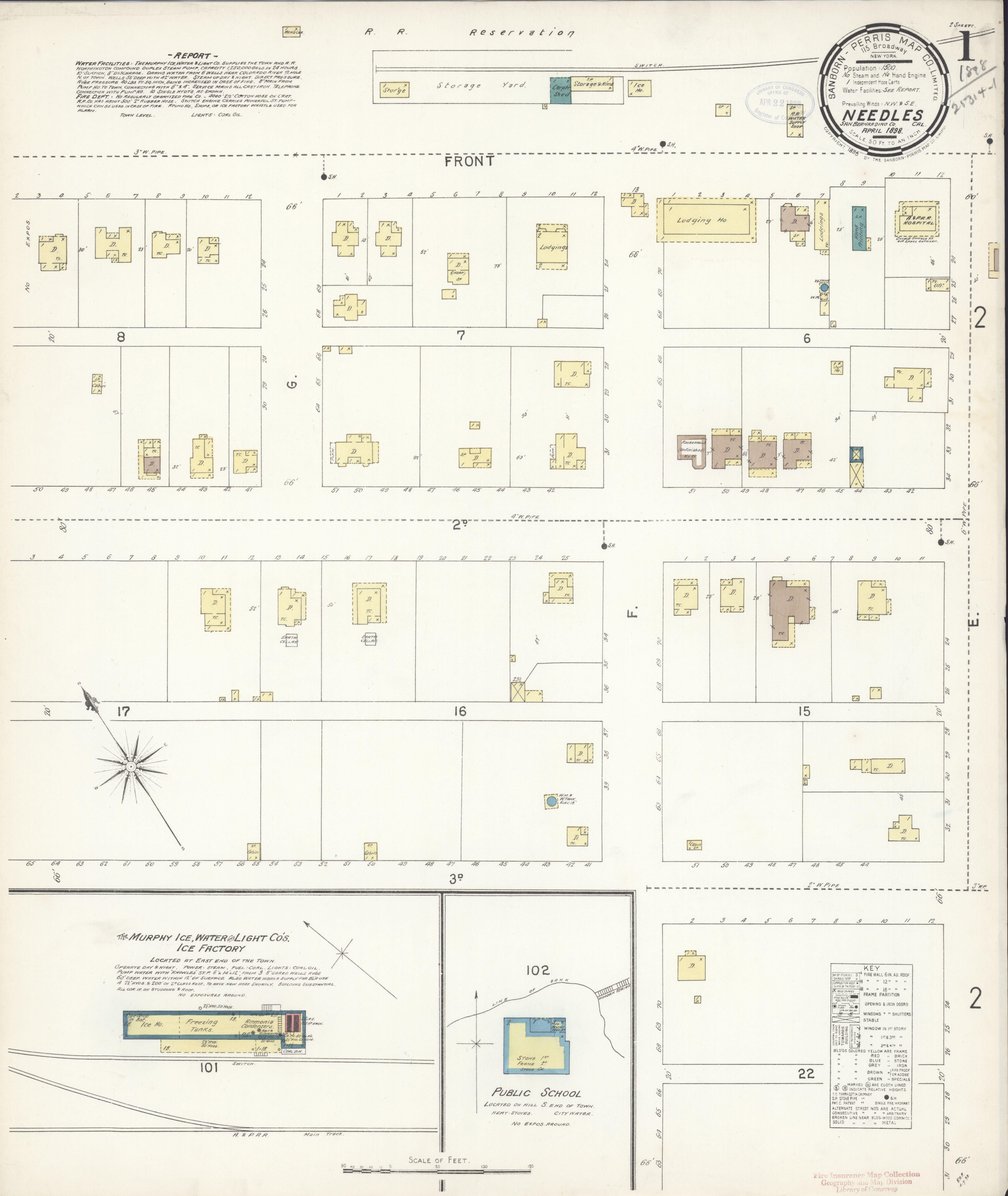File Sanborn Fire Insurance Map From Needles San Bernardino County