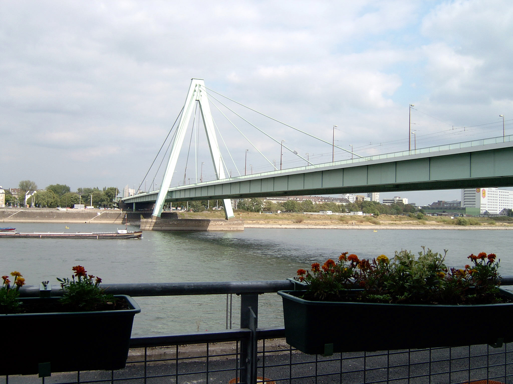 Severinsbrücke von Westen, Februar 2005