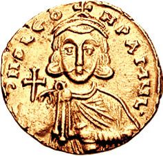 Byzantine Emperor Leo III who sought to impose iconoclastic doctrines in the west Solidus-Leo III.jpg