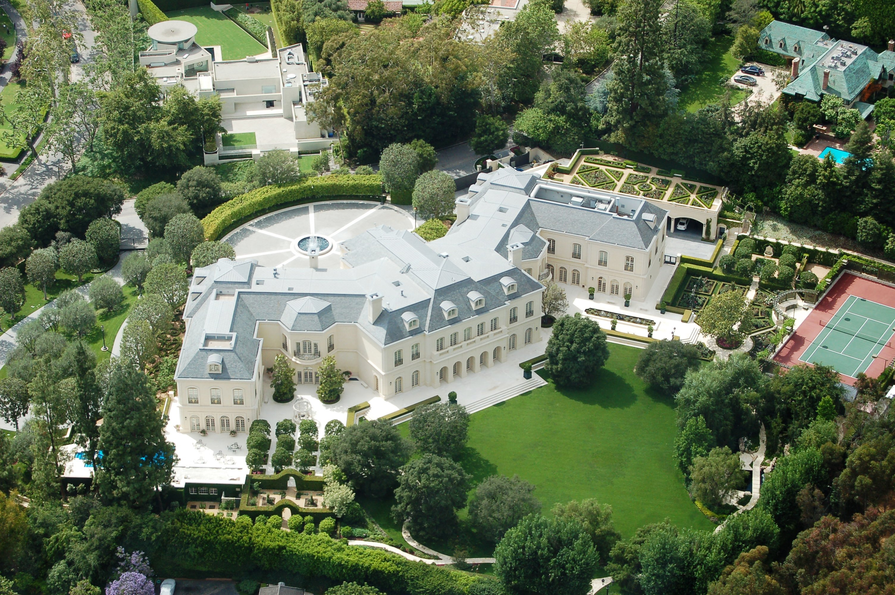 The manor is a mansion