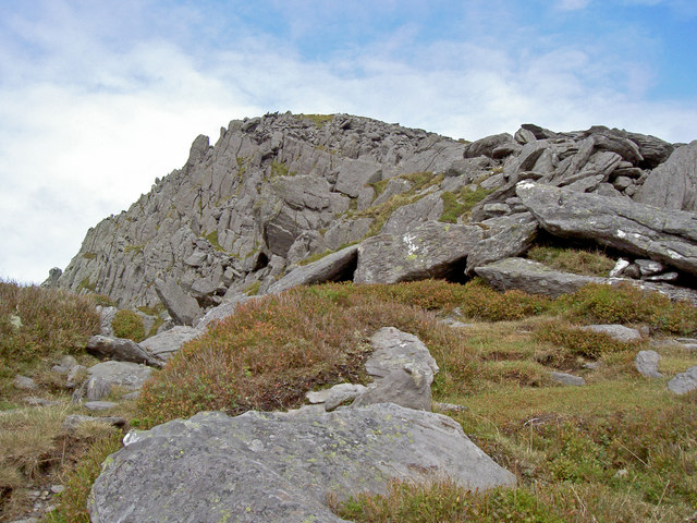 The last of the steep ascent of Pen yr Ole Wen - geograph.org.uk - 971560