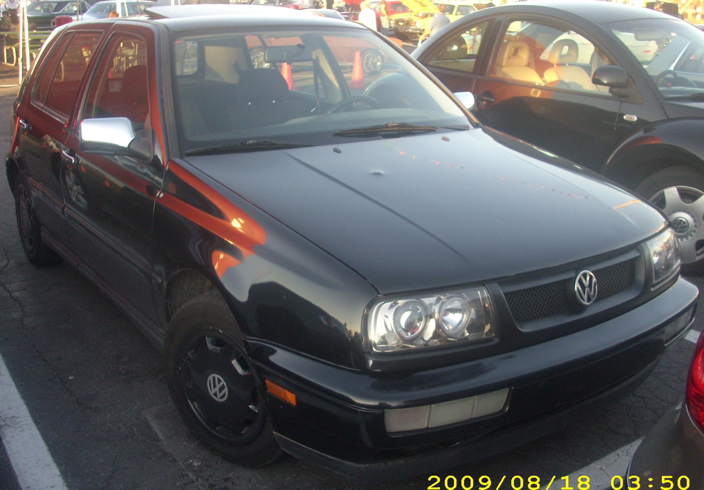 Orange Volkswagen Golf