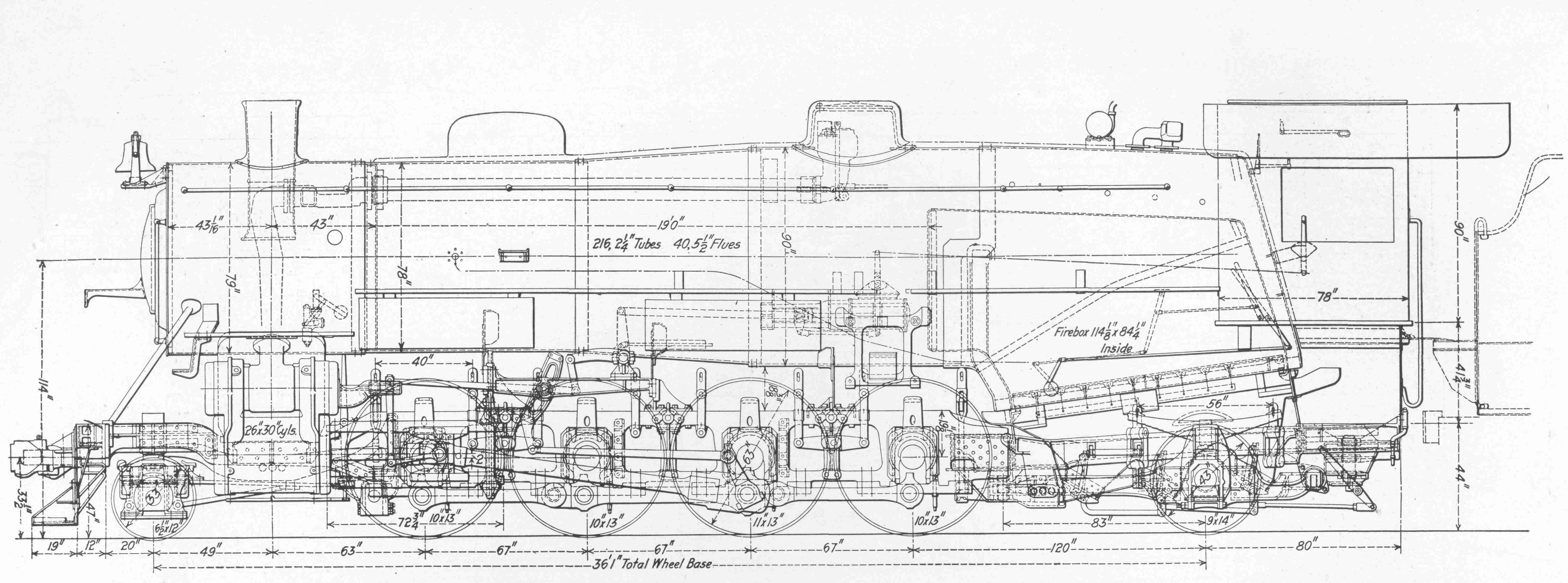 Free Steam Locomotive Drawings – Diagram Of Train Engine