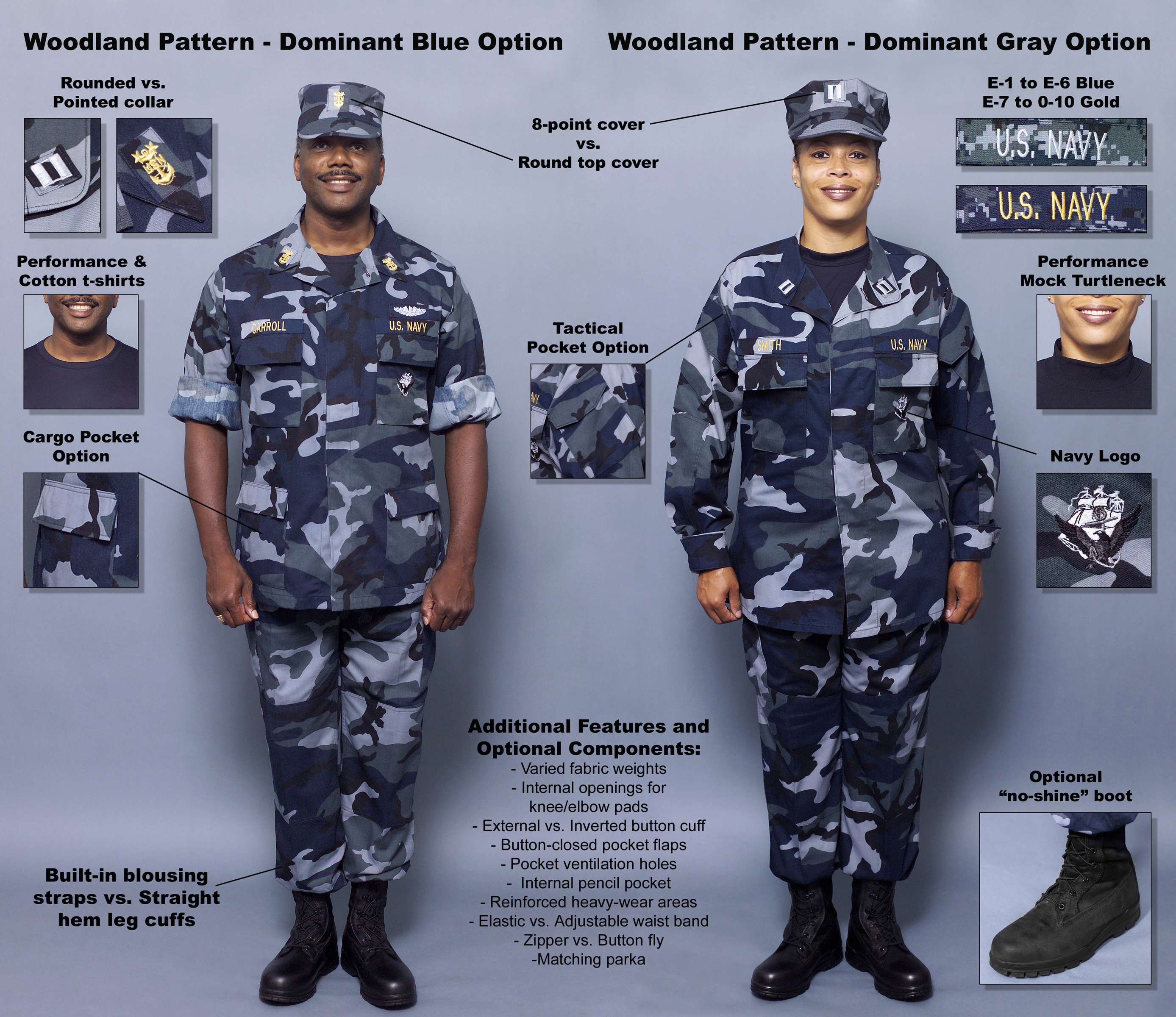 0000X-002 The Navy introduced a set of concept working uniforms ...
