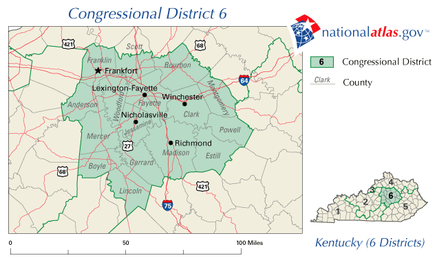 File:United States House of Representatives, Kentucky District 6 map on ky phone map, ky county map, ky add districts map, ky state house districts, ky election map, united states districts map, house of representatives map, ky state representatives districts map, ky school district map, ky redistricting maps,