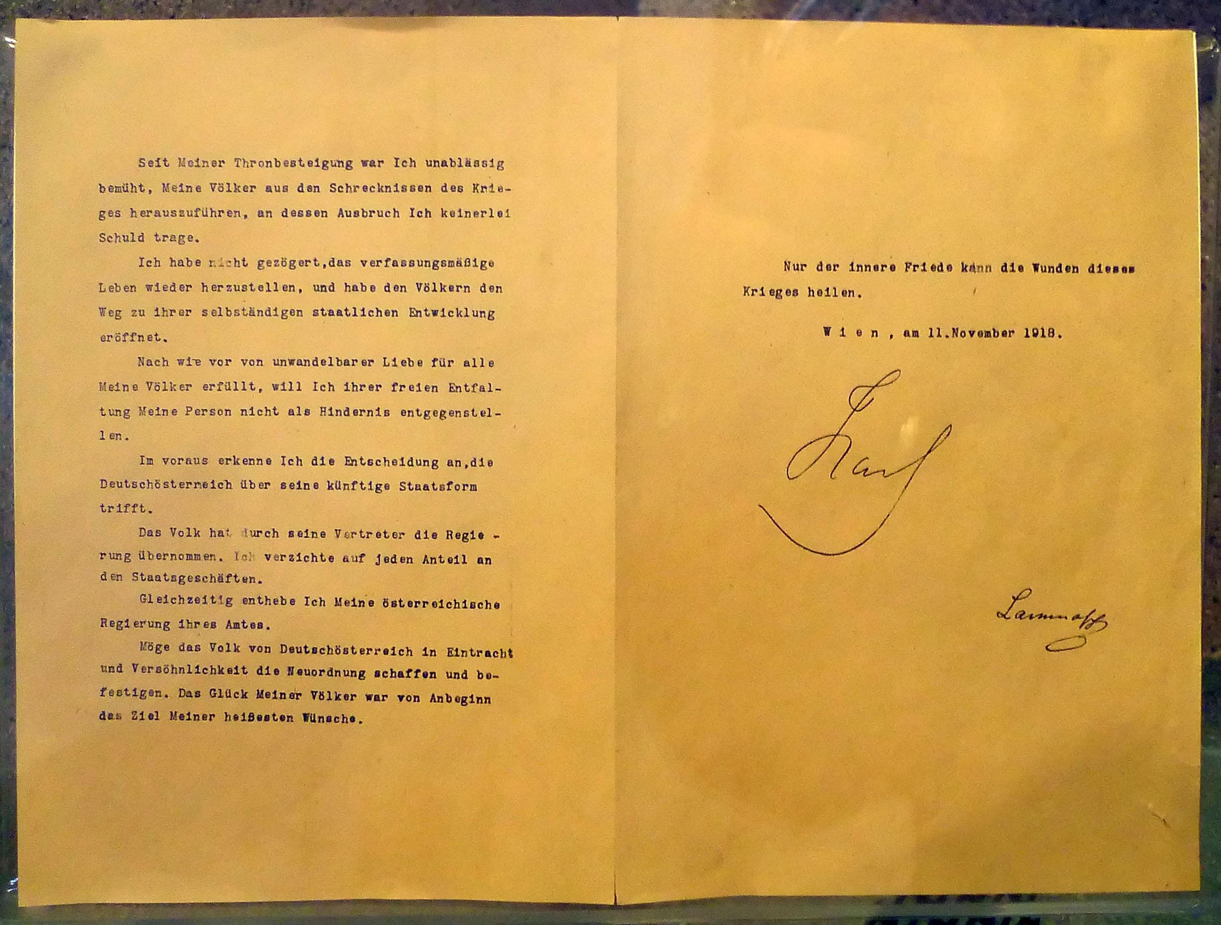 dateiverzichtserklrung karl i 11111918jpg - Verzichtserklarung Muster