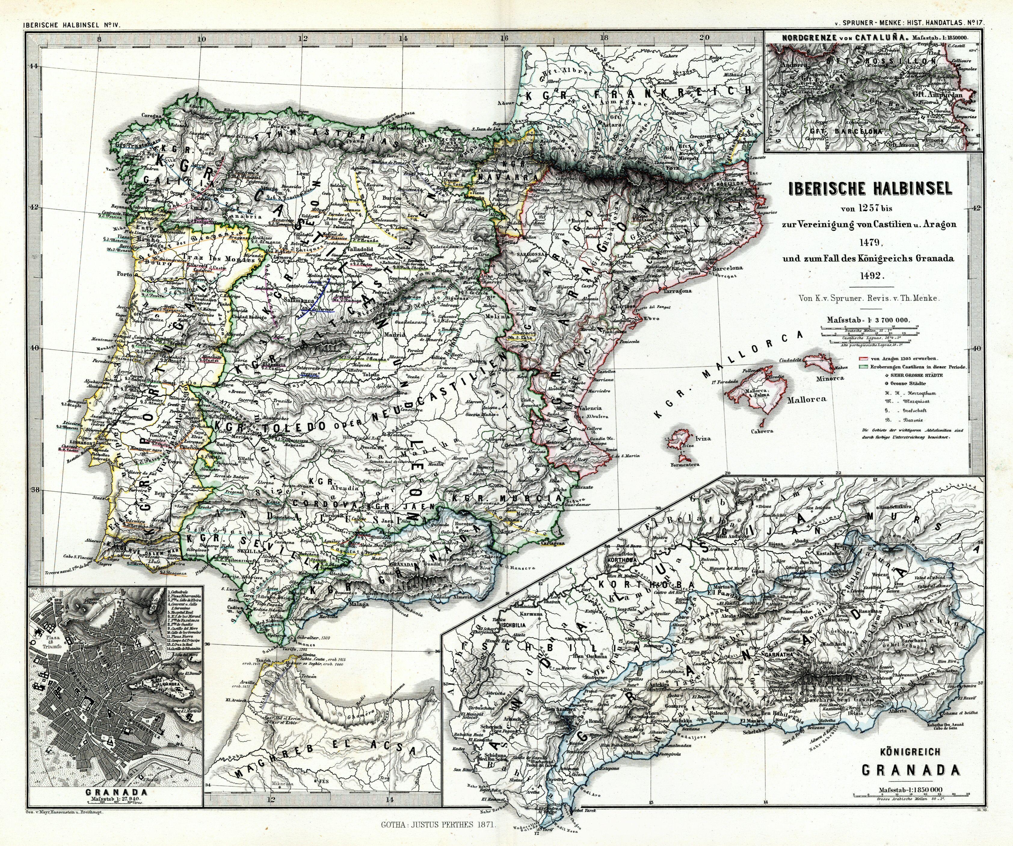 File:(Spruner-Menke, map 17) The Iberian peninsula 1257-1492