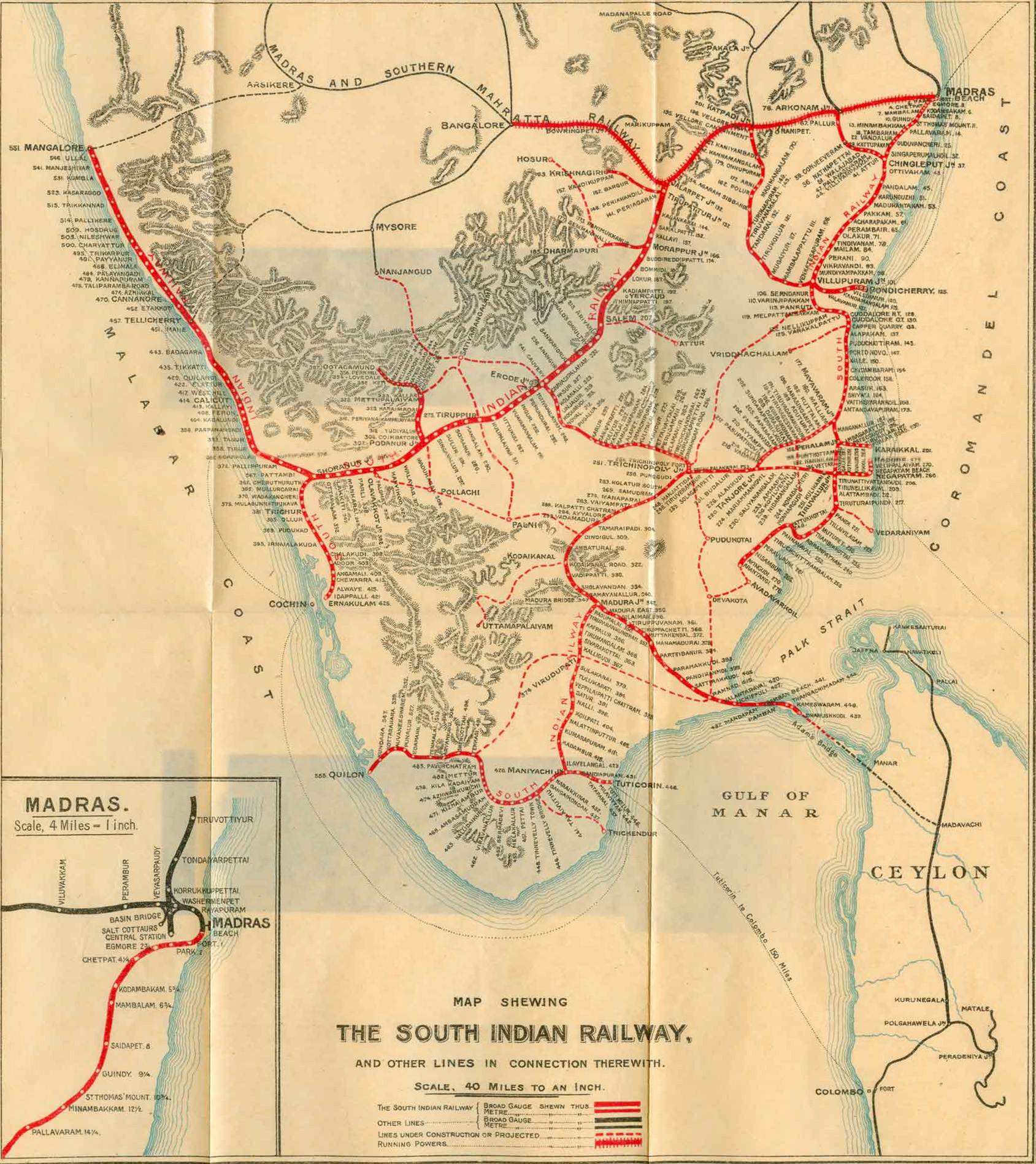 South India Railway Map File:60The South Indian Railway.   Wikimedia Commons