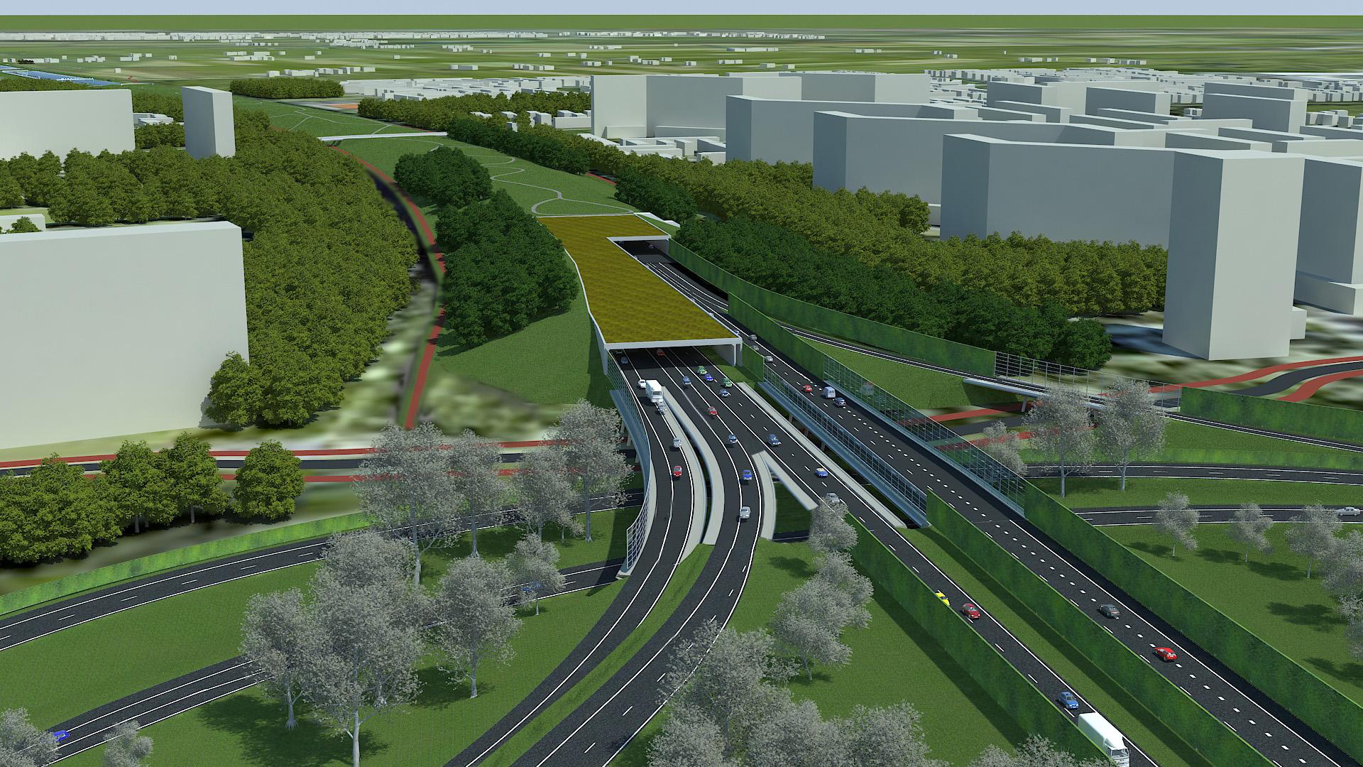 Bestand A4 Delft Schiedam Impressie Zuidelijke Tunnelmond Jpg