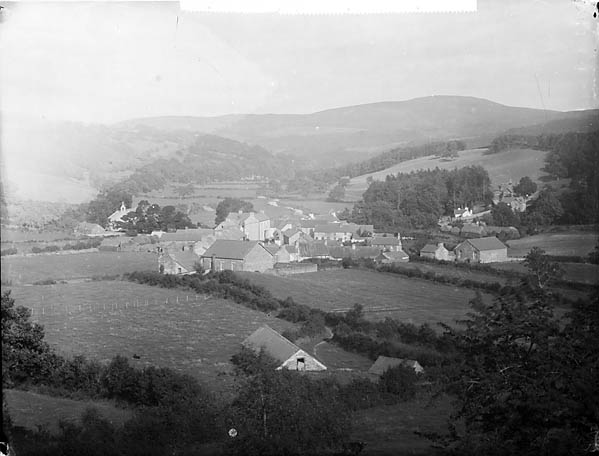 A view of Llansannan from Hendre Wood