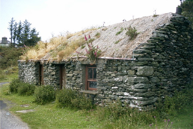 File Abandoned Cottage Malin More Geograph Org Uk