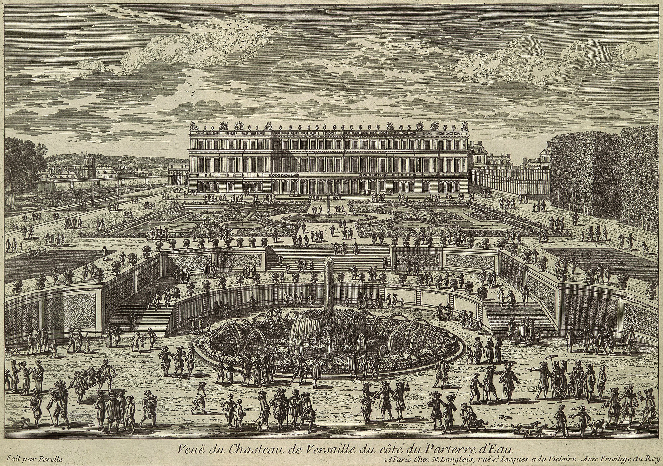 File adam perelle view of versailles garden facade for Garden design history