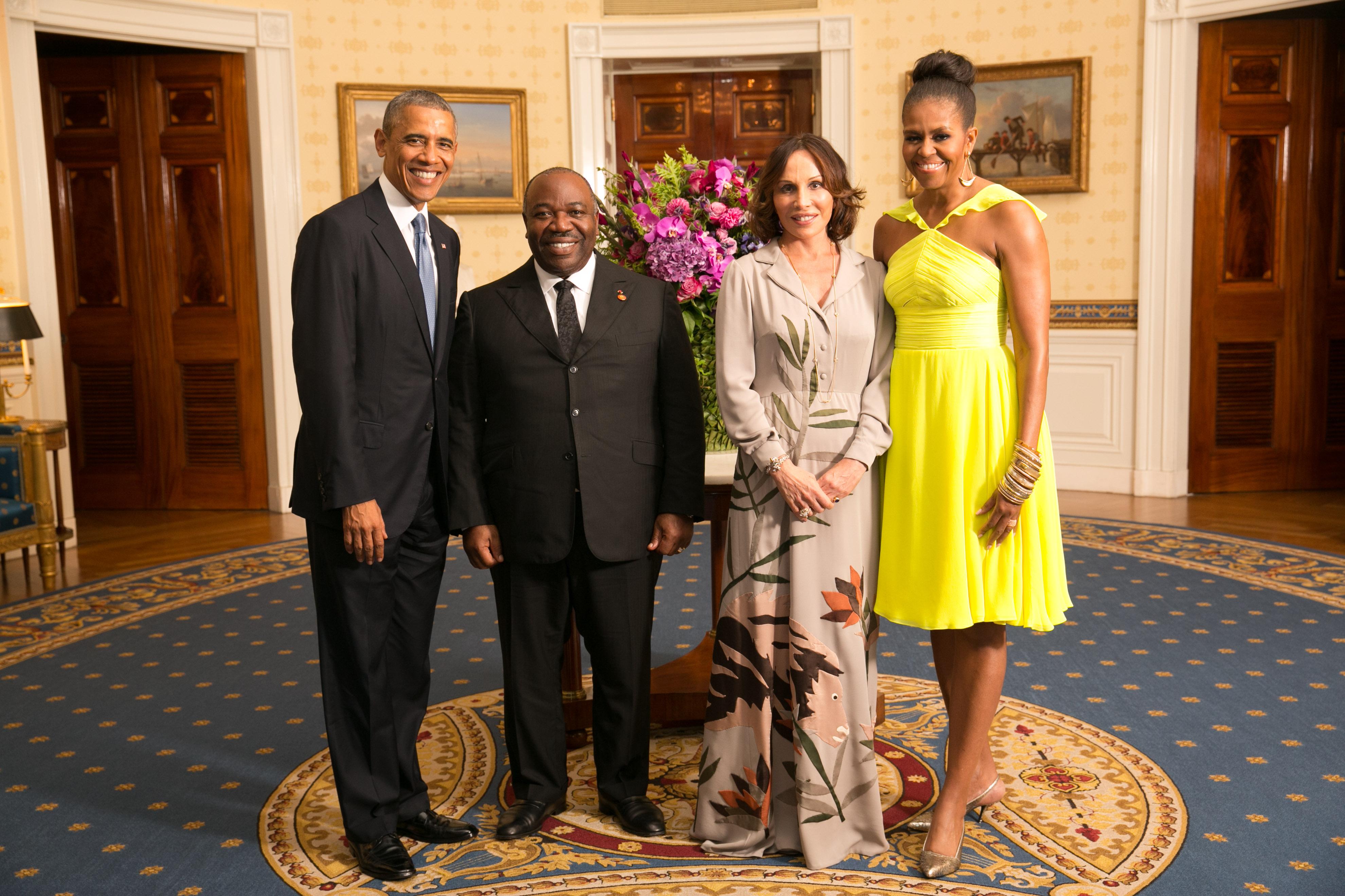File ali bongo ondimba with obamas wikimedia for Barack obama maison blanche