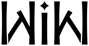 "A mirror-image ambigram for the word ""Wik..."