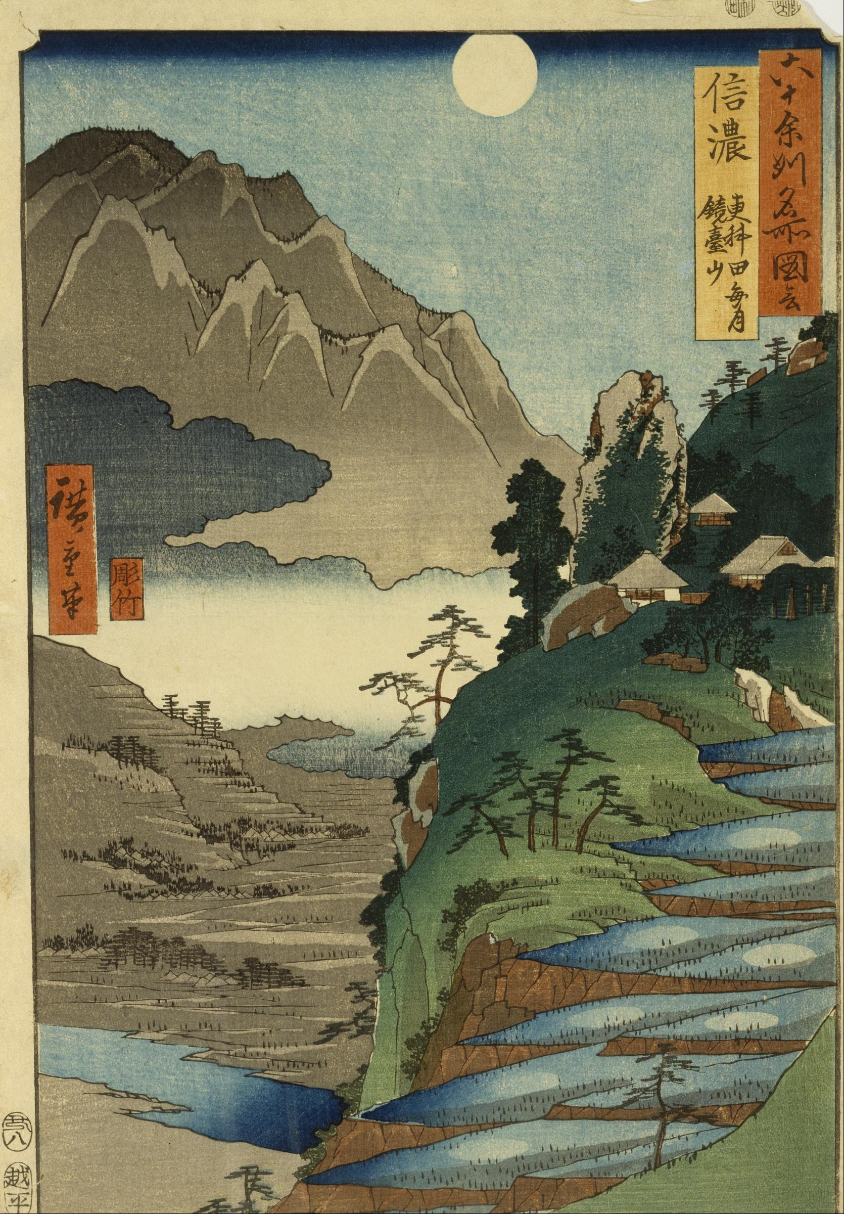 File Ando Hiroshige Mt Kyodai And The Moon Reflected In
