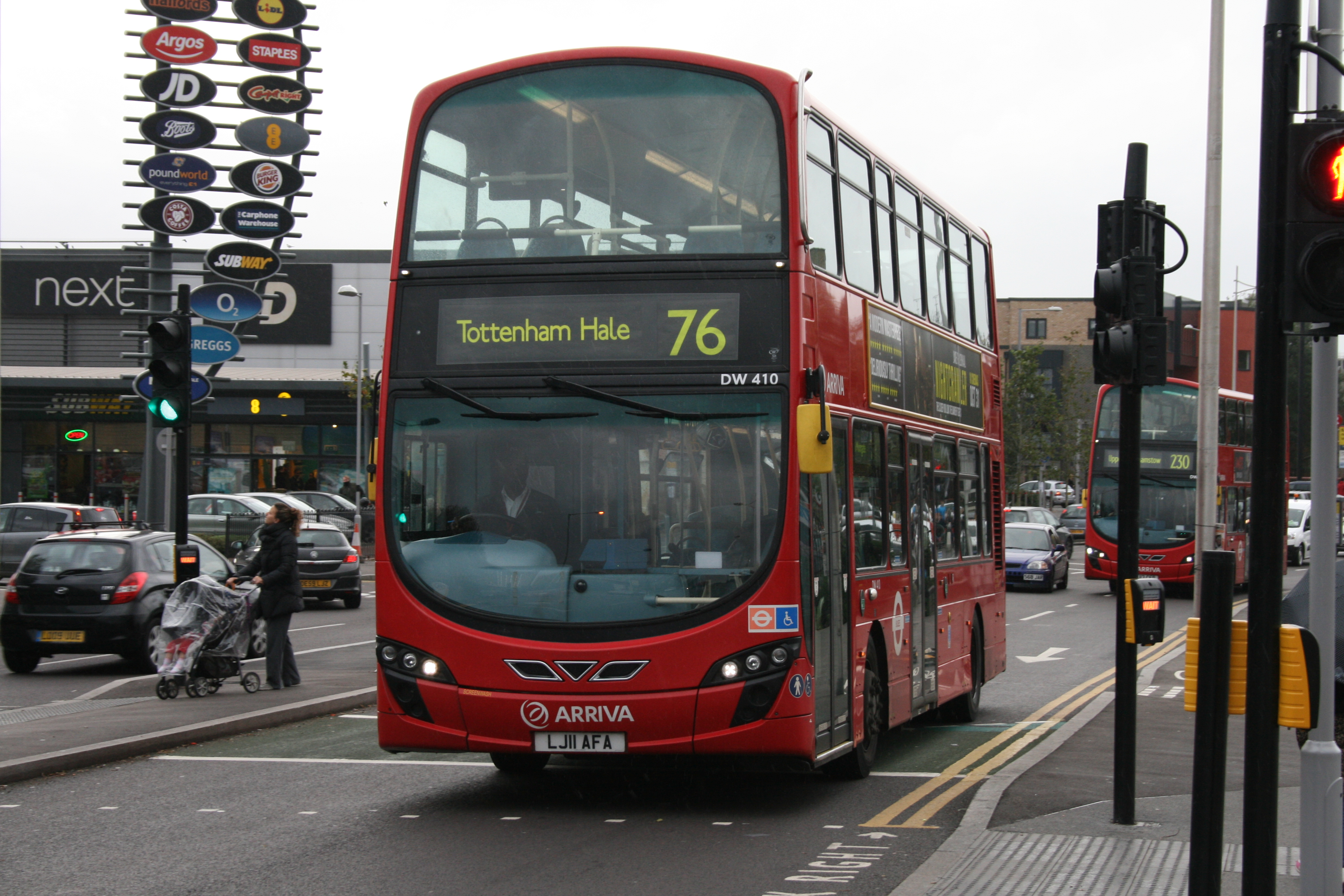 File Arriva London Dw410 On Route 76 Tottenham Hale Bus