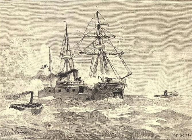 Torpedo boat attack on the Chilean battery ship Cochrane during the Chilean Civil War