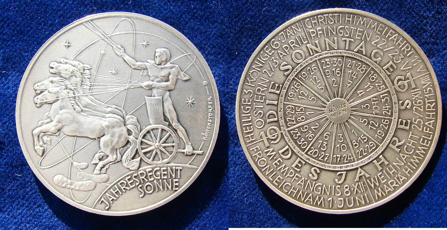 Dateiaustria Calendar Medal Solar Year 1961jpg Wikipedia
