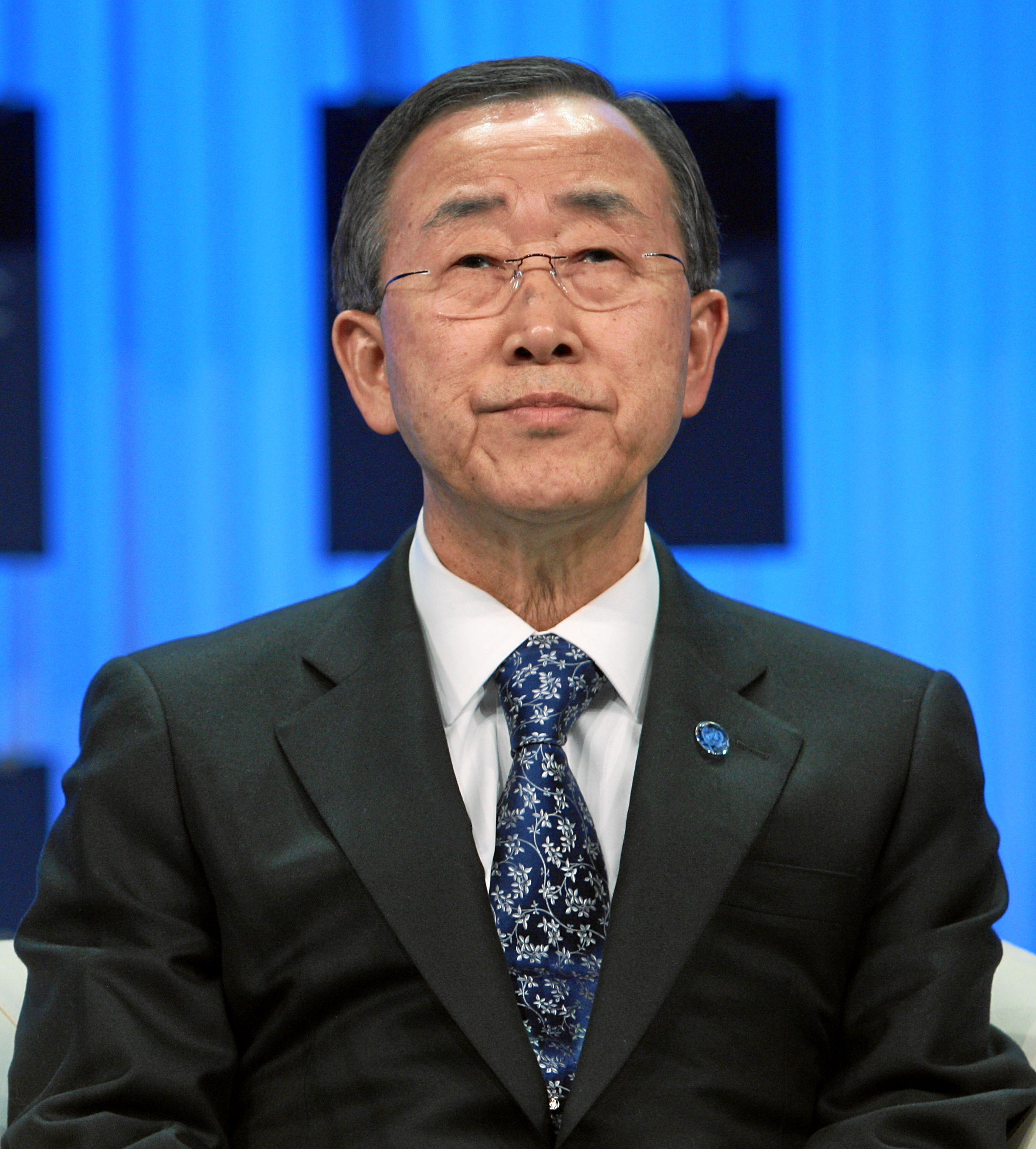 The 73-year old son of father (?) and mother(?), 160 cm tall Ban Ki-moon in 2017 photo