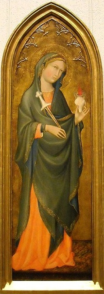 Benedetto di Bindo. St. Lucy. ca. 1410. Institute of Art, Minneapolis.