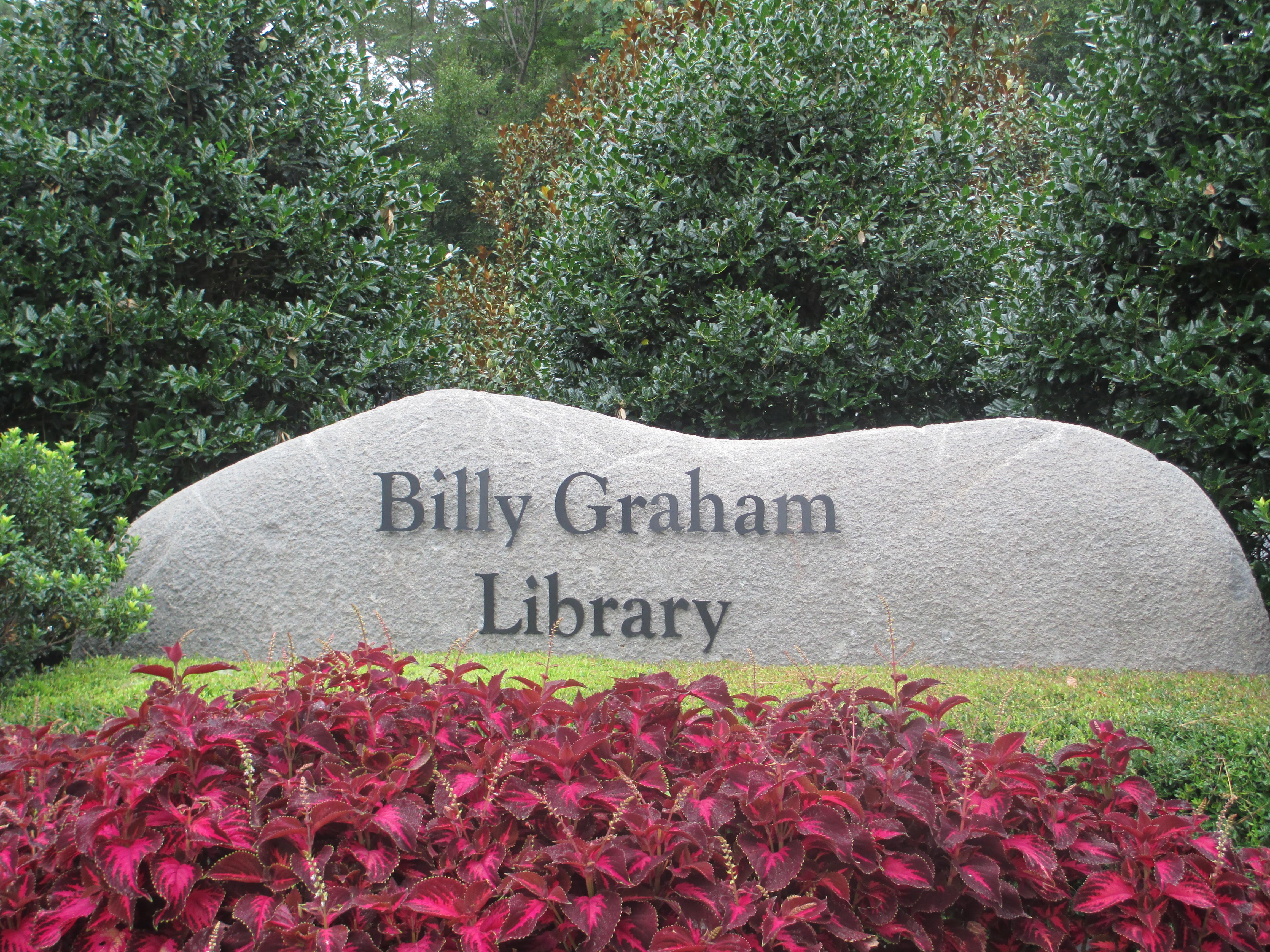 Billy Graham Library entrance sign, Charlotte, NC IMG 4201.JPG
