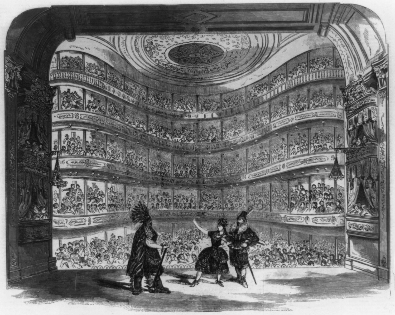 Painting of theatre performance