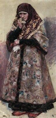 Boyaryna Morozova by V.Surikov - sketch 06 (Museum of Belarus).jpg