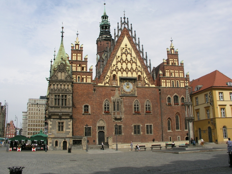 City Hall of Breslau (Wrocław) today