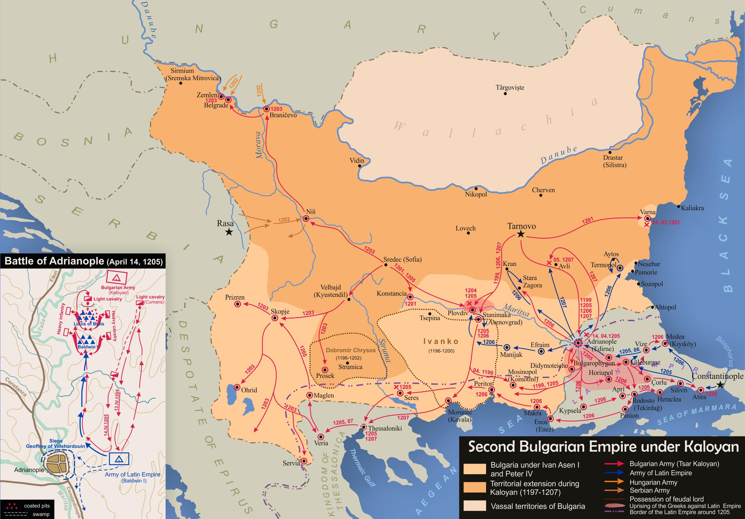Bulgaria under Kaloyanpng Atlas of Vojvodina