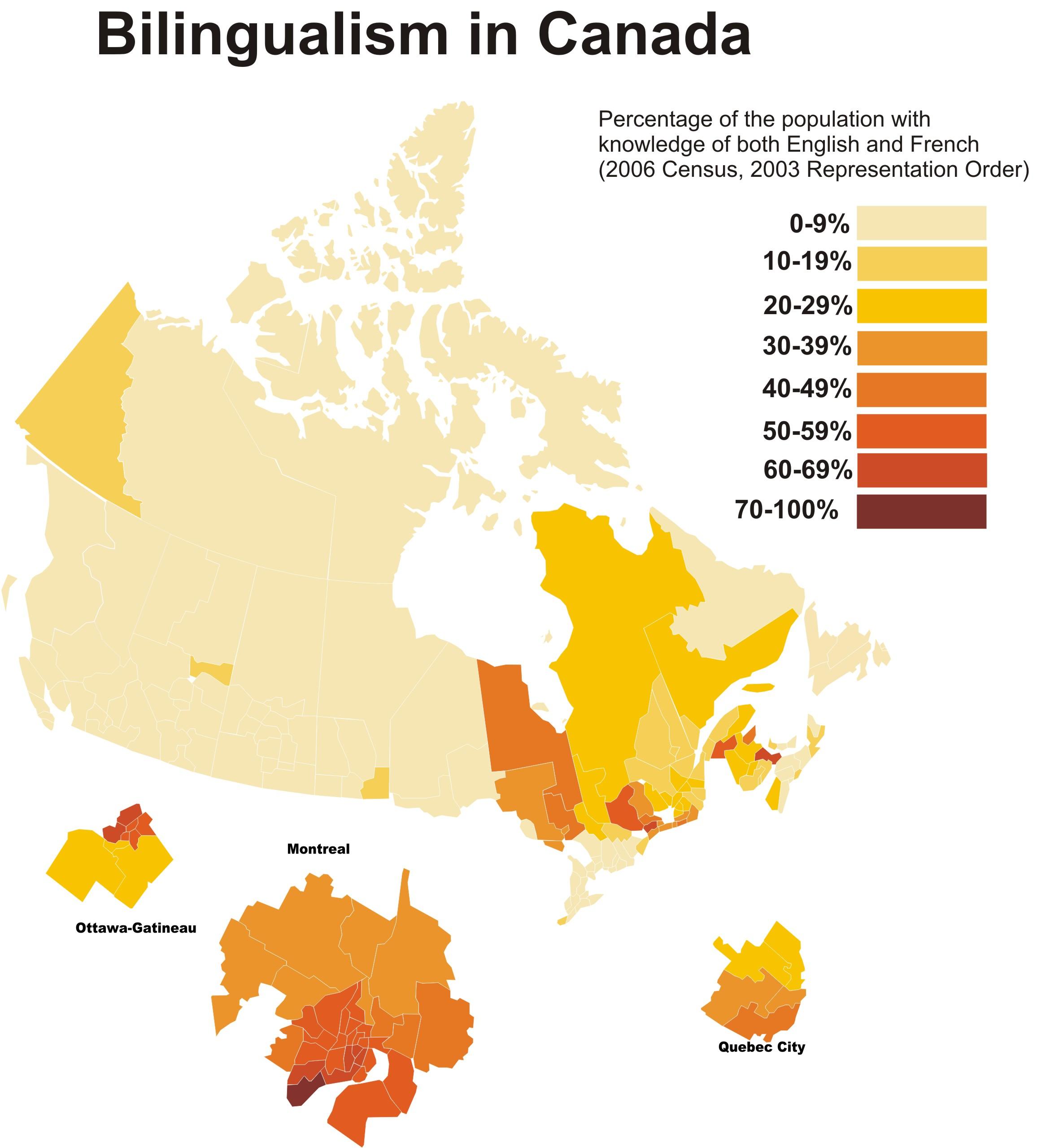 Bilingüismo Canadá