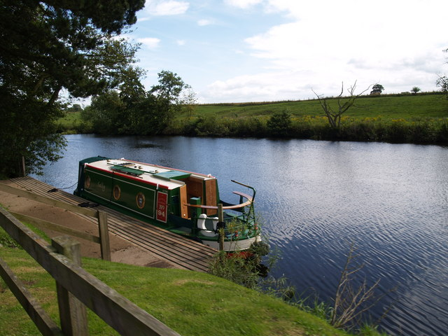 Canal Boat at Newby Hall Berth - geograph.org.uk - 1623449