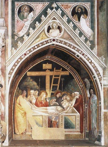 Taddeo Gaddi, Deposizione e ritratto della donatrice, Cappella Bardi di Vernio, Basilica di Santa Croce, Firenze