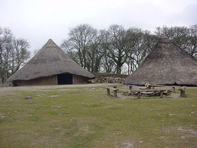 Castell Henllys Iron Age Village Reconstruction - geograph.org.uk - 173808
