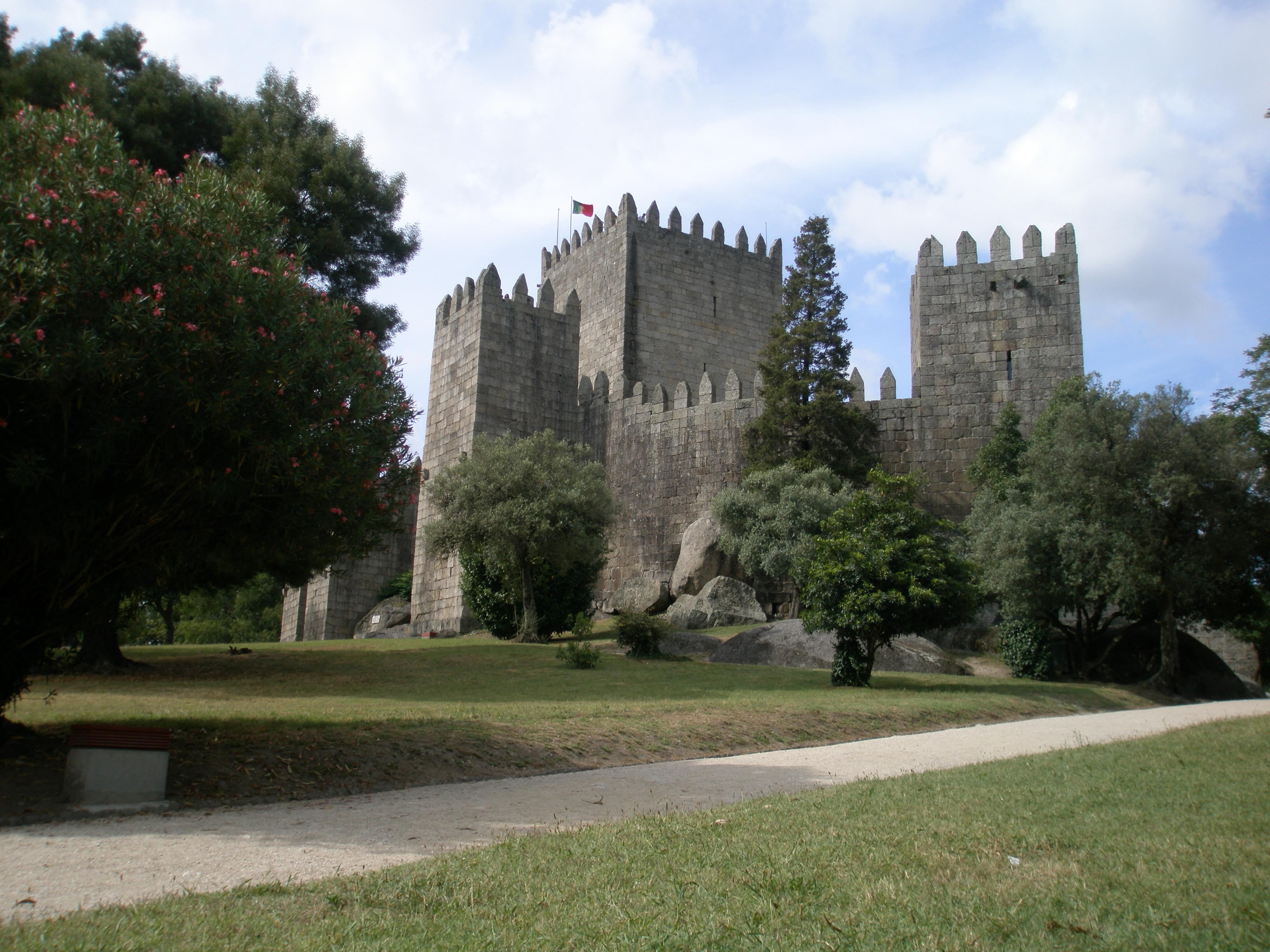 Die Festung von Guimarães, das Hauptsymbol für Portugals Unabhängigkeit.
